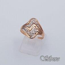Auksinis žiedas su cirkoniais AZ133; 18 mm