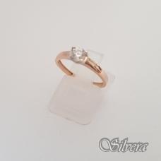Auksinis žiedas su cirkoniais AZ43; 16,5 mm
