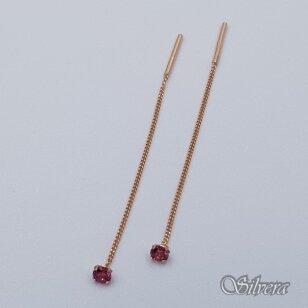 Auksiniai auskarai su cirkoniu AU376