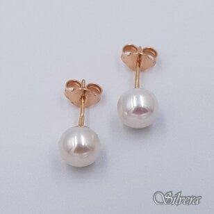 Auksiniai auskarai su kultivuotu perlu AU462