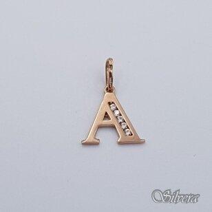 """Auksinis pakabukas su cirkoniais raidė """"A"""" AP236"""