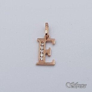 """Auksinis pakabukas su cirkoniais raidė """"E"""" AP237"""
