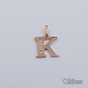 """Auksinis pakabukas su cirkoniais raidė """"K"""" AP231"""