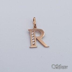 """Auksinis pakabukas su cirkoniais raidė """"R"""" AP235"""
