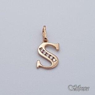 """Auksinis pakabukas su cirkoniais raidę """"S"""" AP232"""
