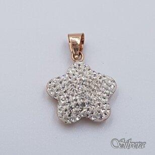 Auksinis pakabukas su swarovski kristalais AP184