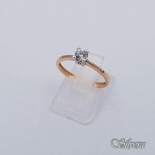 Auksinis žiedas su cirkoniu AZ109; 16 mm