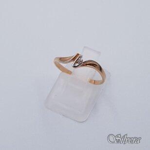 Auksinis žiedas su cirkoniu AZ59; 16 mm