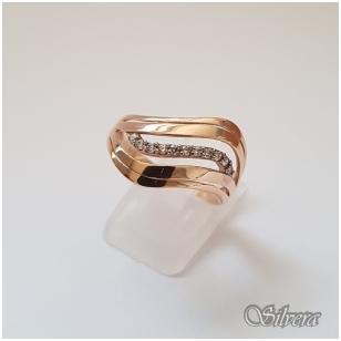 Auksinis žiedas su cirkoniais AZ10; 20 mm