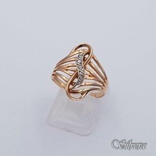 Auksinis žiedas su cirkoniais AZ100; 17,5 mm