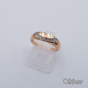 Auksinis žiedas su cirkoniais AZ215; 16 mm