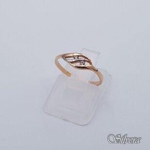 Auksinis žiedas su cirkoniais AZ223; 15,5 mm