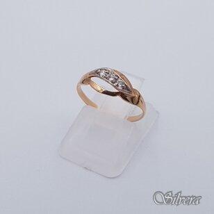 Auksinis žiedas su cirkoniais AZ224; 15,5 mm