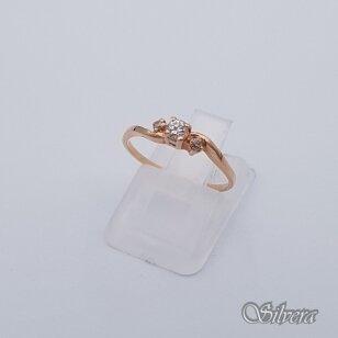 Auksinis žiedas su cirkoniais AZ229; 16 mm