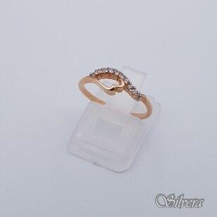 Auksinis žiedas su cirkoniais AZ231; 16 mm