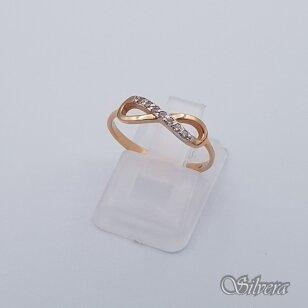 Auksinis žiedas su cirkoniais AZ232; 16 mm