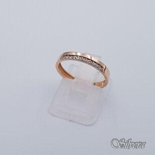 Auksinis žiedas su cirkoniais AZ233; 16 mm