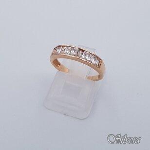Auksinis žiedas su cirkoniais AZ234; 16 mm