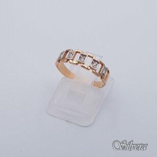 Auksinis žiedas su cirkoniais AZ235; 16 mm