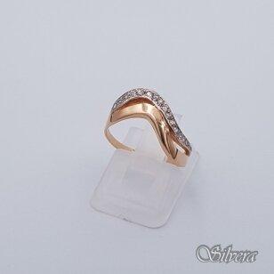 Auksinis žiedas su cirkoniais AZ236; 16 mm