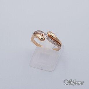 Auksinis žiedas su cirkoniais AZ238; 16,5 mm