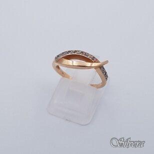 Auksinis žiedas su cirkoniais AZ239; 16,5 mm