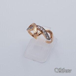 Auksinis žiedas su cirkoniais AZ240; 16,5 mm