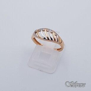 Auksinis žiedas su cirkoniais AZ242; 16,5 mm