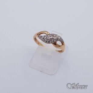 Auksinis žiedas su cirkoniais AZ243; 16,5 mm