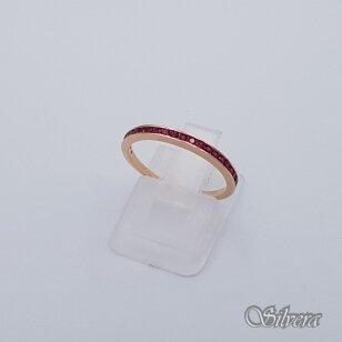 Auksinis žiedas su cirkoniais AZ255;  16,5 mm