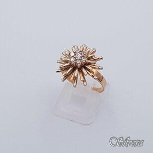 Auksinis žiedas su cirkoniais AZ263; 17 mm