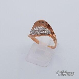 Auksinis žiedas su cirkoniais AZ264; 18 mm