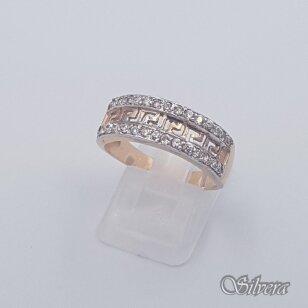 Auksinis žiedas su cirkoniais AZ435; 19 mm