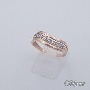 Auksinis žiedas su cirkoniais AZ450; 20 mm