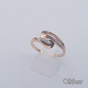 Auksinis žiedas su cirkoniais AZ462; 21,5 mm