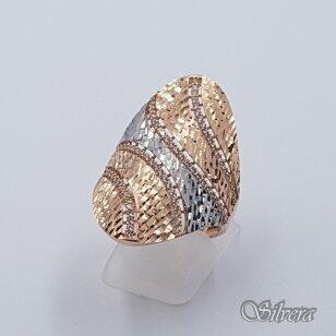 Auksinis žiedas su cirkoniais AZ488; 20 mm