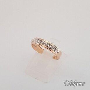 Auksinis žiedas su cirkoniais AZ49; 16 mm
