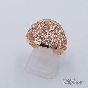 Auksinis žiedas su cirkoniais AZ495; 17,5 mm