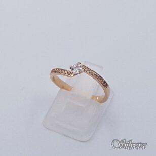 Auksinis žiedas su cirkoniais AZ499; 17 mm