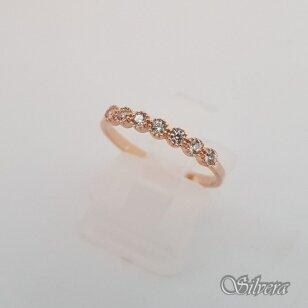 Auksinis žiedas su cirkoniais AZ52; 18 mm