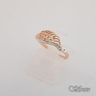 Auksinis žiedas su cirkoniais AZ54; 16 mm