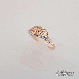 Auksinis žiedas su cirkoniais AZ54; 16,5 mm