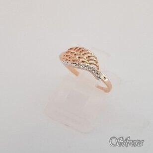 Auksinis žiedas su cirkoniais AZ54; 17 mm