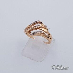 Auksinis žiedas su cirkoniais AZ99; 17,5 mm
