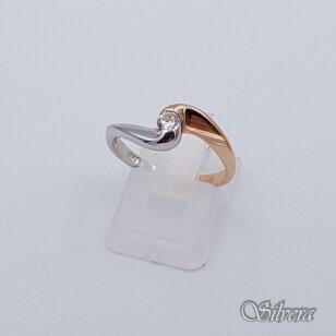 Auksinis žiedas su cirkoniu AZ106; 17,5 mm