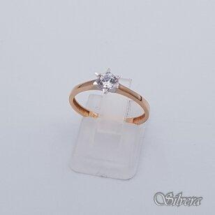 Auksinis žiedas su cirkoniu AZ108; 17,5 mm