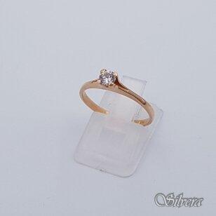 Auksinis žiedas su cirkoniu AZ111; 16 mm