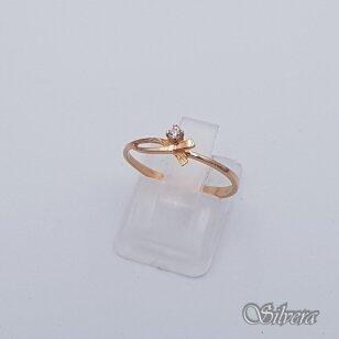 Auksinis žiedas su cirkoniu AZ117; 16,5 mm