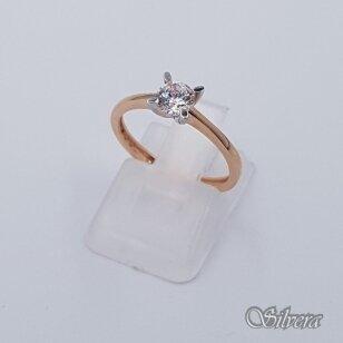 Auksinis žiedas su cirkoniu AZ216; 16 mm