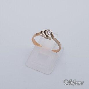 Auksinis žiedas su cirkoniu AZ218; 16 mm